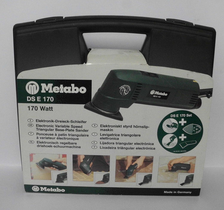 280 W Metabo Dreieckschleifer DSE 280 Intec//handlicher Schleifer ideal f/ür Ecken und Kanten