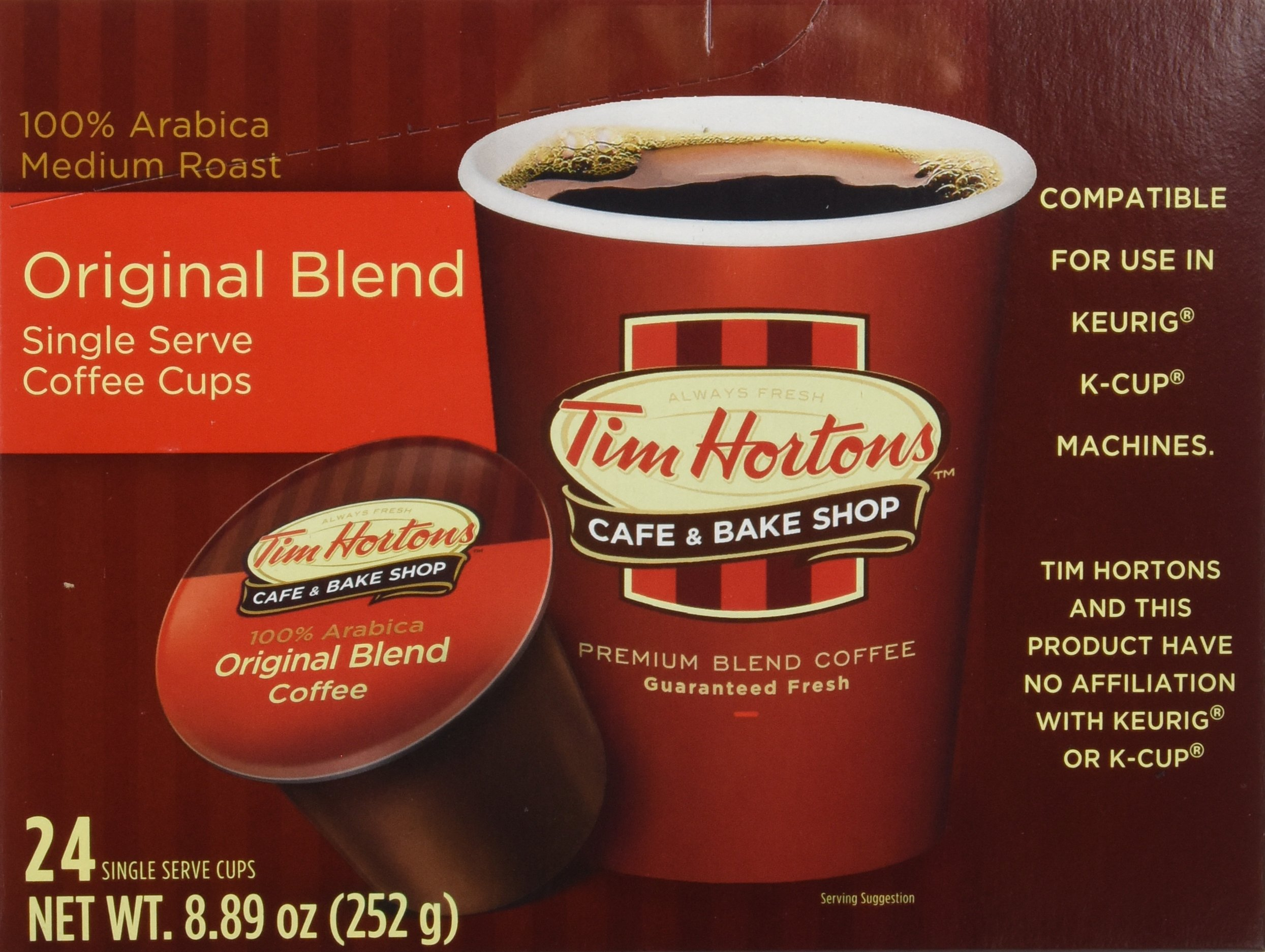 Tim Hortons Single Serve Coffee 96 Count by Tim Hortons
