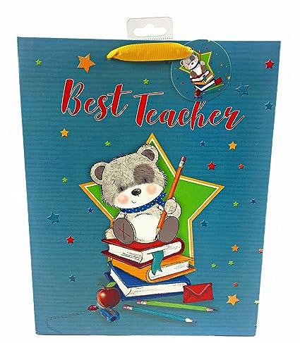 Bolsa de regalo grande para el mejor profesor, regalo de ...