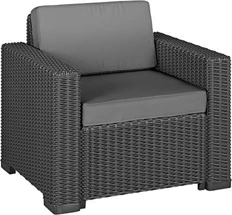 Allibert 212351 lounge stoel California Chair, rotanlook