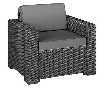 Allibert 212351 Sillón (California Chair, imitación de ratán ...