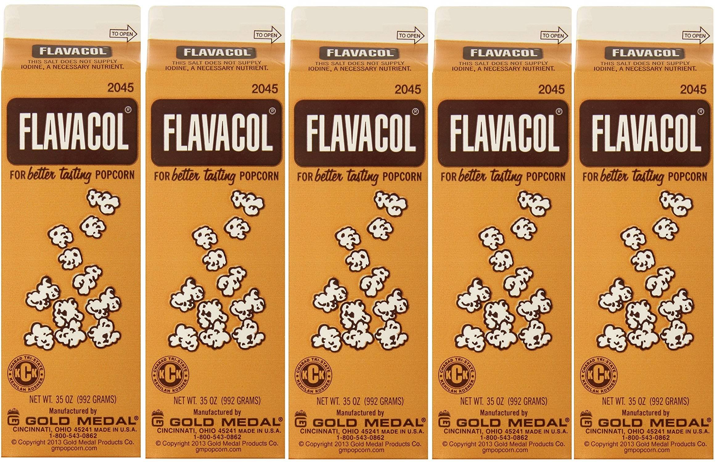 Gold Medal Prod. 2045 Flavacol Seasoning RcYQlO Popcorn Salt 35oz., 5 Pack