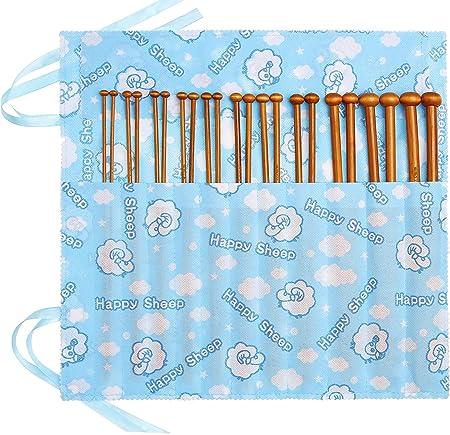 Seawhisper® 36pcs Agujas de Tejer de Bambú Carbonizado 2.0mm-10mm Agujas Punto, 1 Juego de 26 unidades con Punta en Estuche Rosa: Amazon.es: Hogar