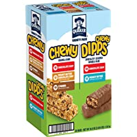 Deals on 58-Count Quaker Chewy Granola Bars and Dipps Variety Pack