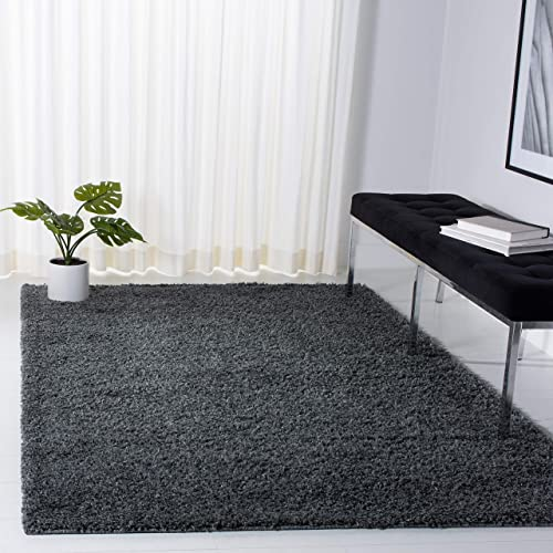 Safavieh Venus Shag Collection VNS520H Solid 1.8-inch Thick Area Rug