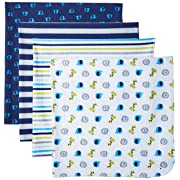 Gerber Baby Boys' 4-Pack Flannel Receiving Blanket, Safari, 30  x 30