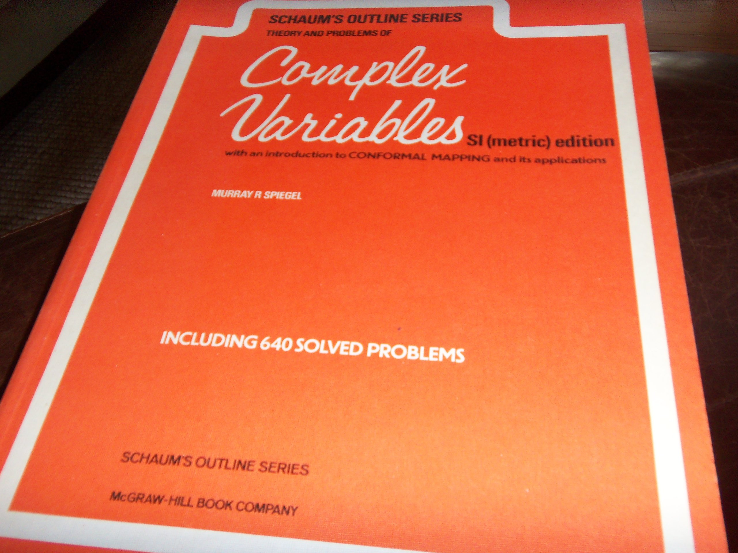 solution of complex variables by spiegel