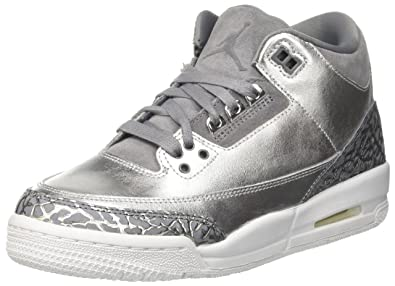 5f23c4518df Nike Jordan Women's Air Jordan 3 Retro Prem HC Metallic/Silver/Cool ...