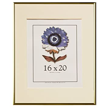16x20 metal picture frame series 2 matte gold