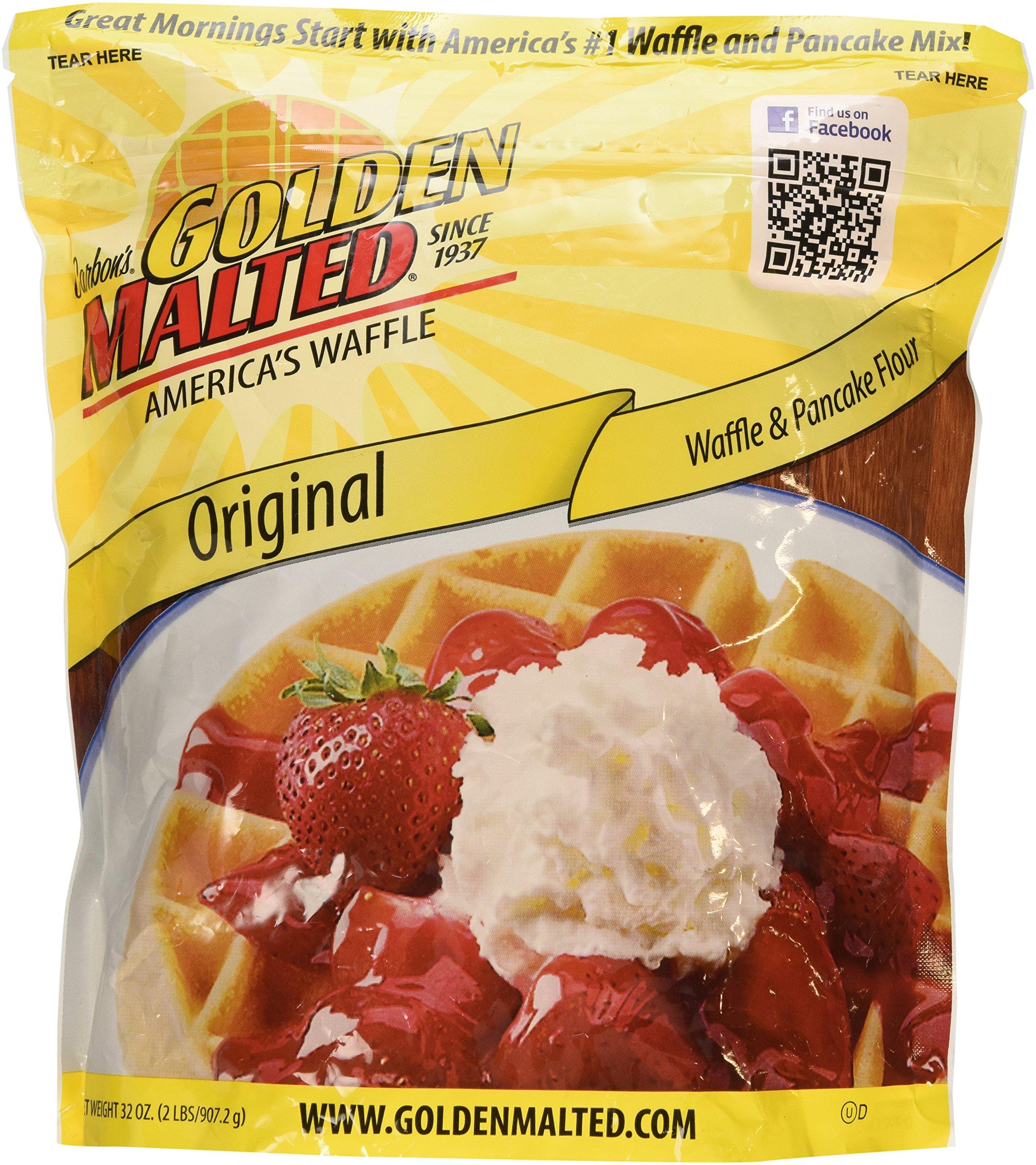 Carbon's Golden Malted Pancake & Waffle Flour Mix, Original, 32-Ounces by Golden Malted