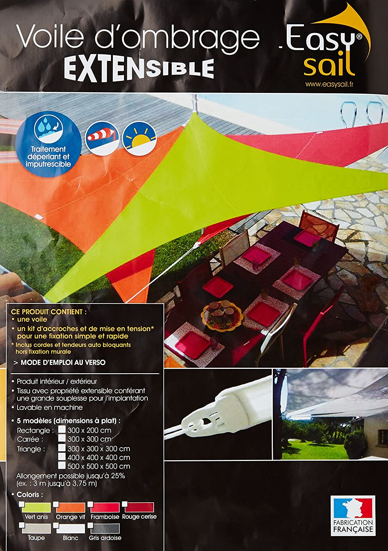 Taupe Sun /& Vela Easy Sale Vela Rettangolo Scorrevole 300x200x200 cm