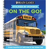 Brain Games - Sticker by Number: On the Go (Easy - Square Stickers): Create Beautiful Art With Easy to Use Sticker Fun!