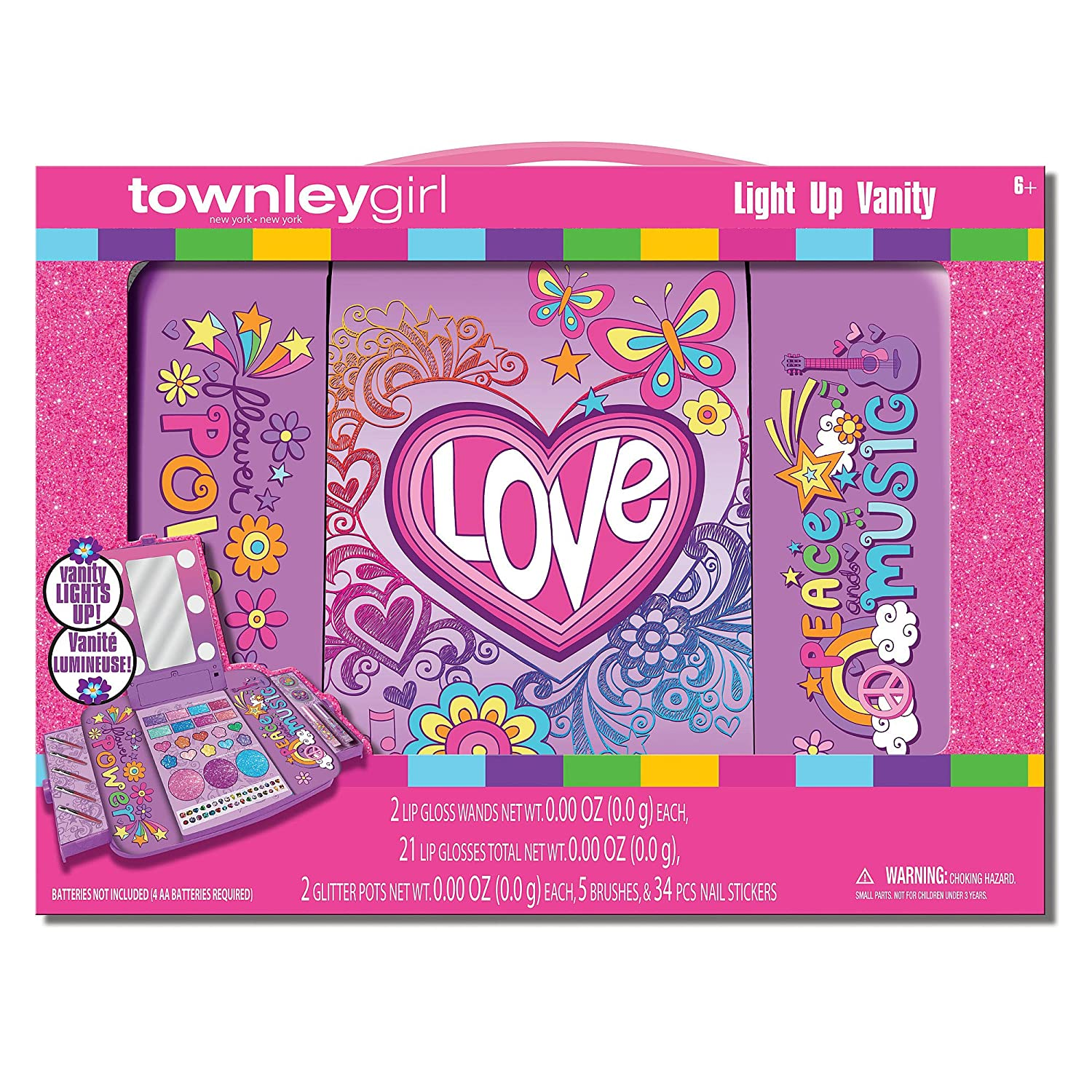 Amazon: Townley Girl Light-up TC0329SA Cosmetic Vanity: Kitchen & Dining