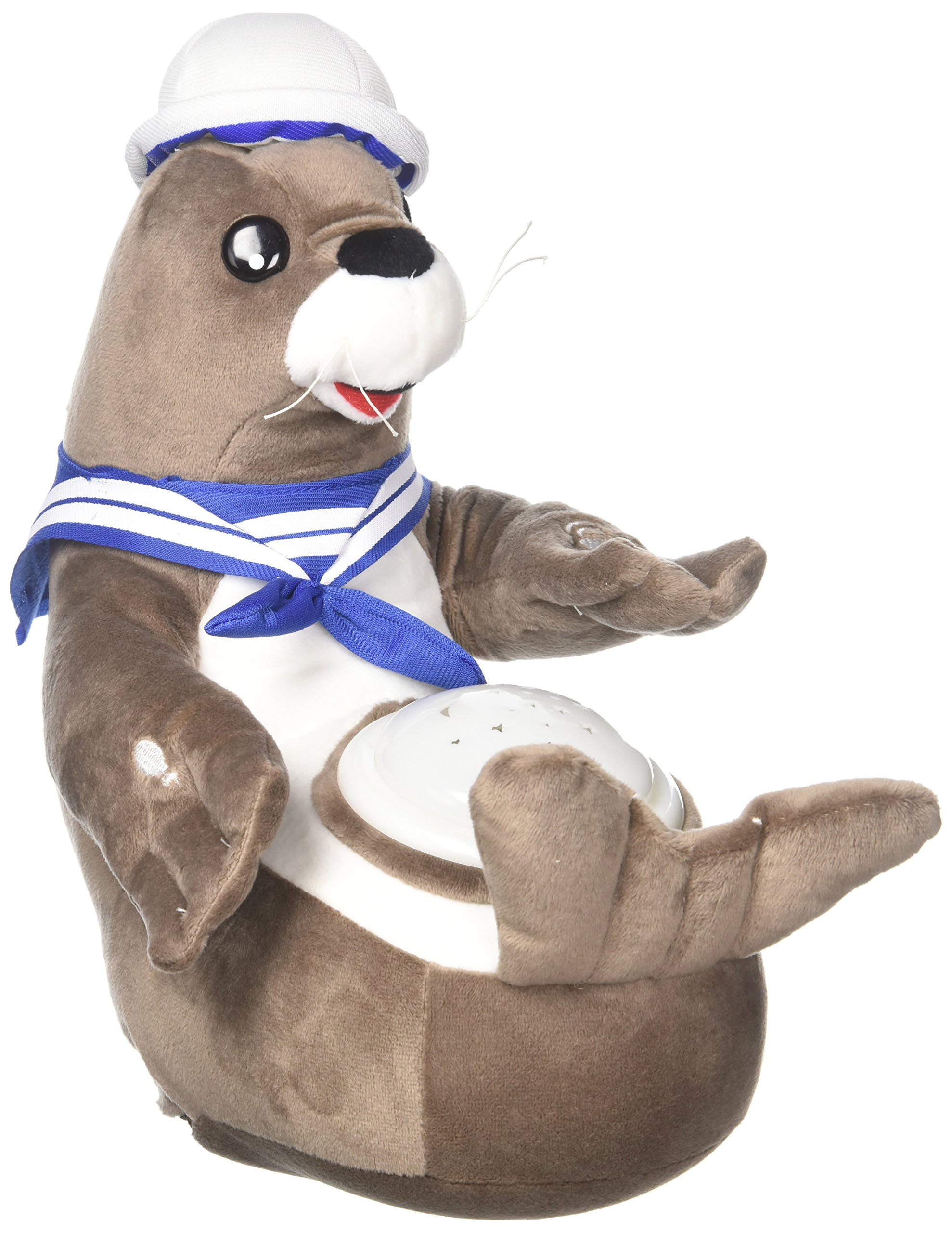 Sally Seal Nightlight Soother with Favorite Lullabies, Nature Sounds and Projecting Stars & Moon Light by Dimple