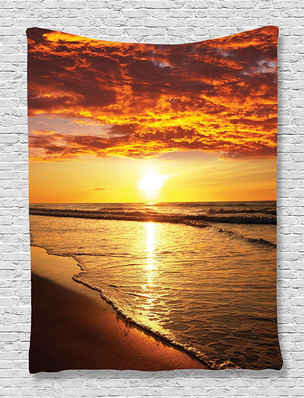 Amazon.com: Beach Tapestry Ocean Hawaiian Decor by Ambesonne ...