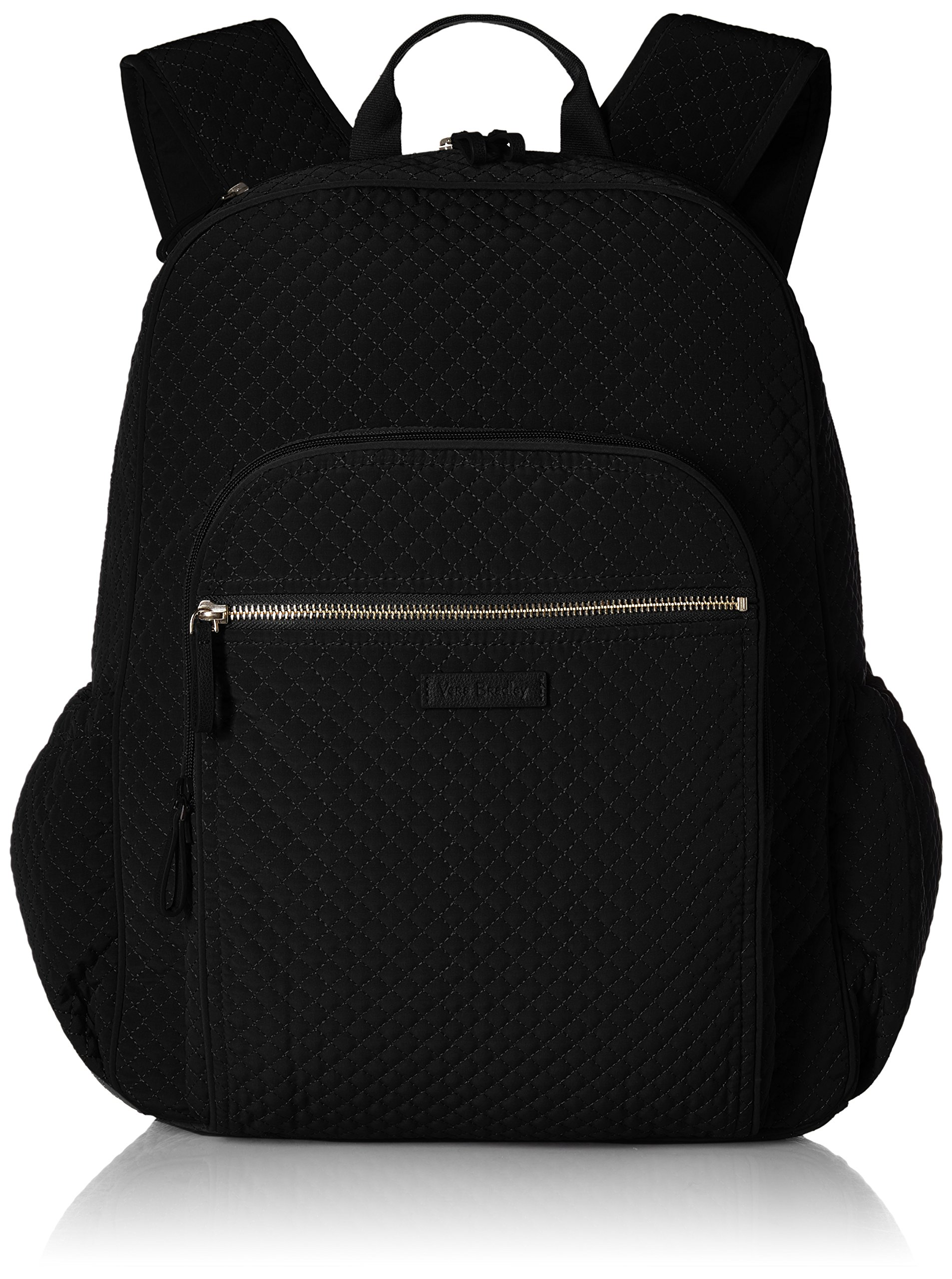 Vera Bradley Iconic Campus Backpack, Microfiber, Classic Black Black
