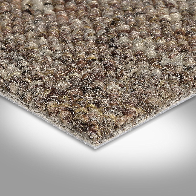 Variante: 400 und 500 cm breit 300 verschiedene L/ängen 5 x 4 m BODENMEISTER BM72181 Teppichboden Auslegware Meterware Schlinge braun beige 200