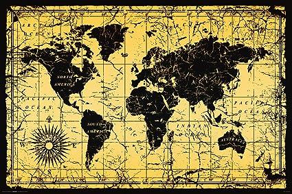 Culturenik World Map Antique Vintage Old Style Decorative Educational on vintage world map, ceramic world map, bedding world map, interior world map, simple world map, ornate world map, seasonal world map, jewelry world map, security world map, solar world map, repositionable world map, fluorescent world map, videogame world map, rounded world map, plants world map, miniature world map, illustration world map, mythological world map, nature world map, distressed world map,