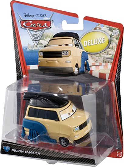 Mattel Disney Pixar Cars 2 Diecast Deluxe Pinion Tanaka 7 /& Kingpin Nobunaga
