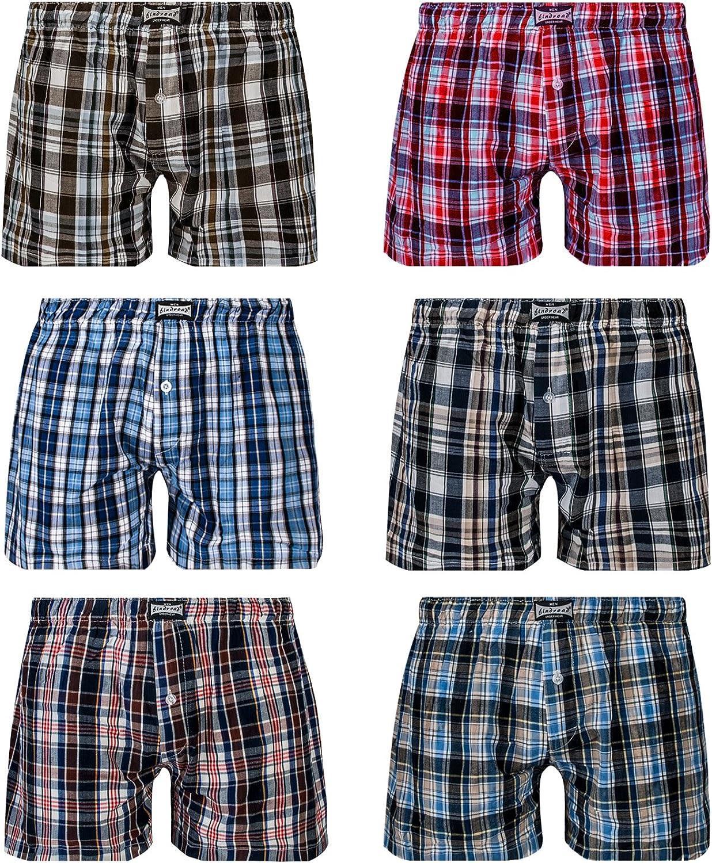 L&K Bóxer para Hombre Pack de 6, Estilo Americano en Diversos Colores con 95% de algodón 1406: Amazon.es: Ropa y accesorios