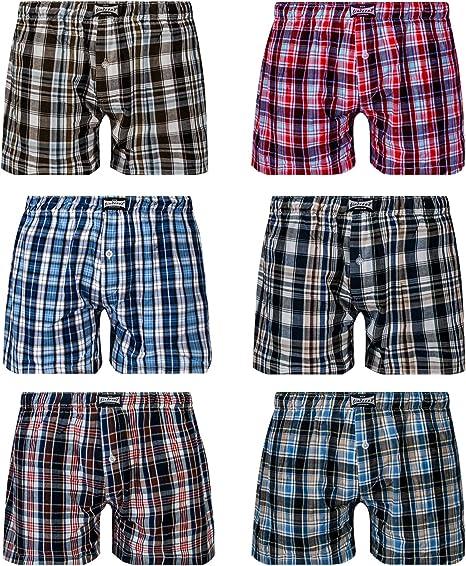 TALLA XL. L&K Bóxer para Hombre Pack de 6, Estilo Americano en Diversos Colores con 95% de algodón 1406