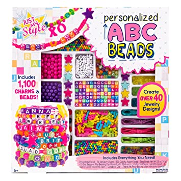 Amazon Com Just My Style Abc Beads By Horizon Group Usa Toys Games