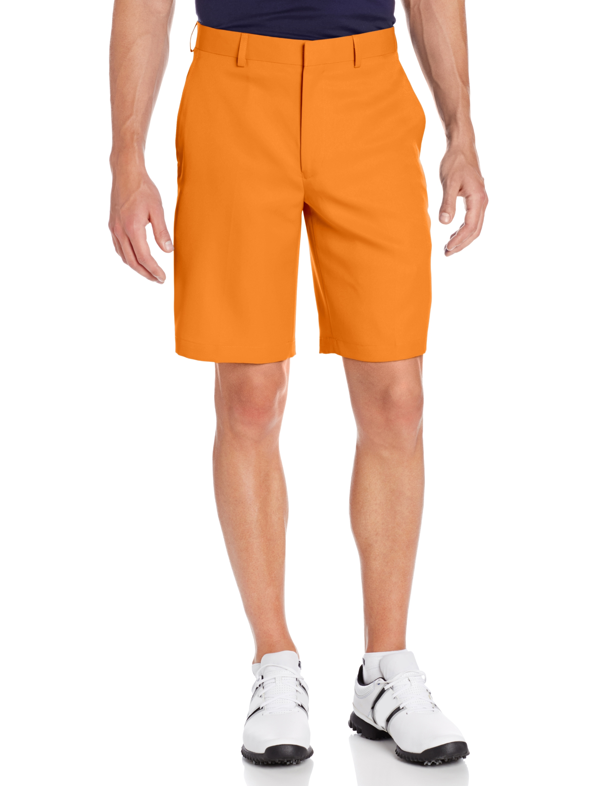 Louis Raphael Men's Flat Front Golf Short, Persimmon Orange, 30