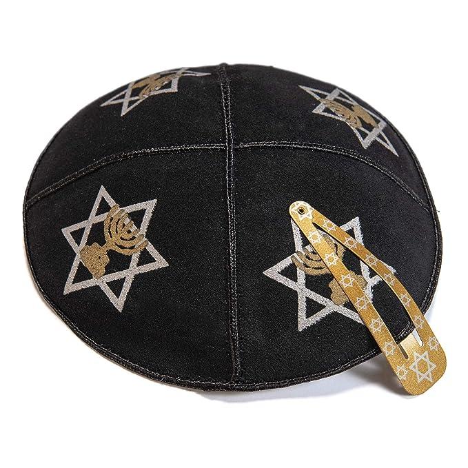 JL Kipphas in maglia 20 cm Cotone Bianco kippah EBREO ISRAELIANO GIUDAICO Kipa yarmulke Sinagoga