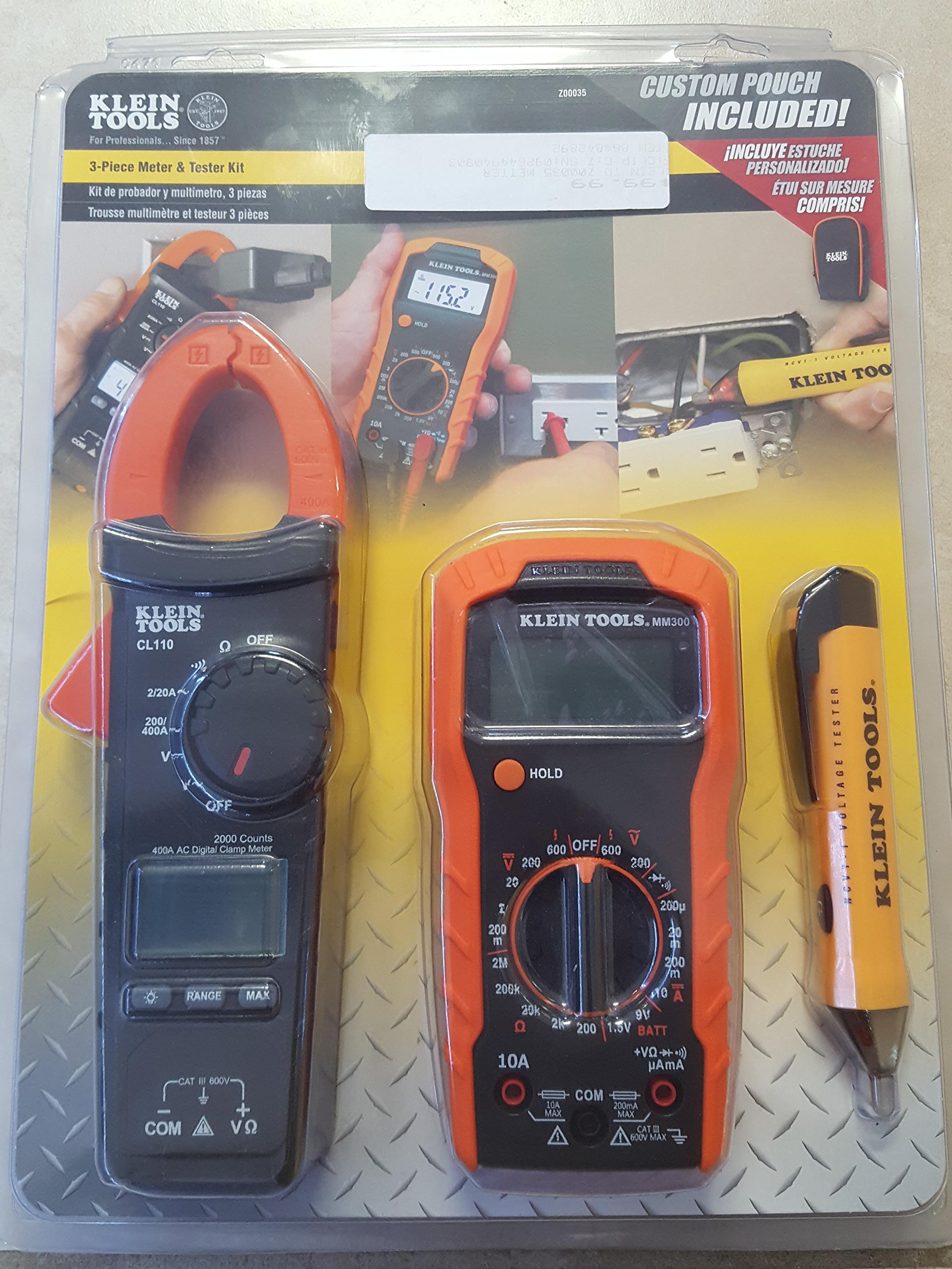 Meter and Tester Kit (3-Piece) Klein Tools Z00035