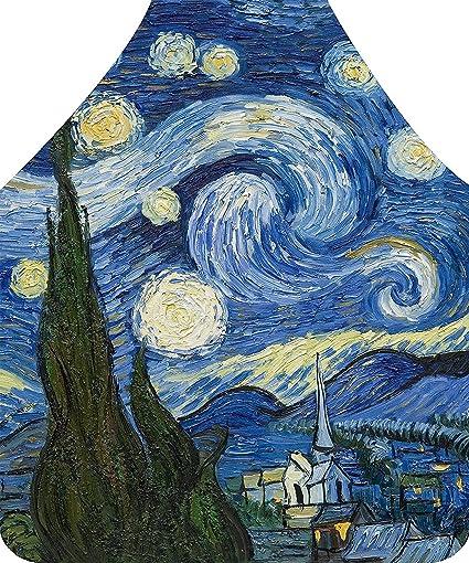 AXE Hacha Hoz Noche Estrellada de Van Gogh Pintura la Personalidad Delantal, Delantal de Cocina