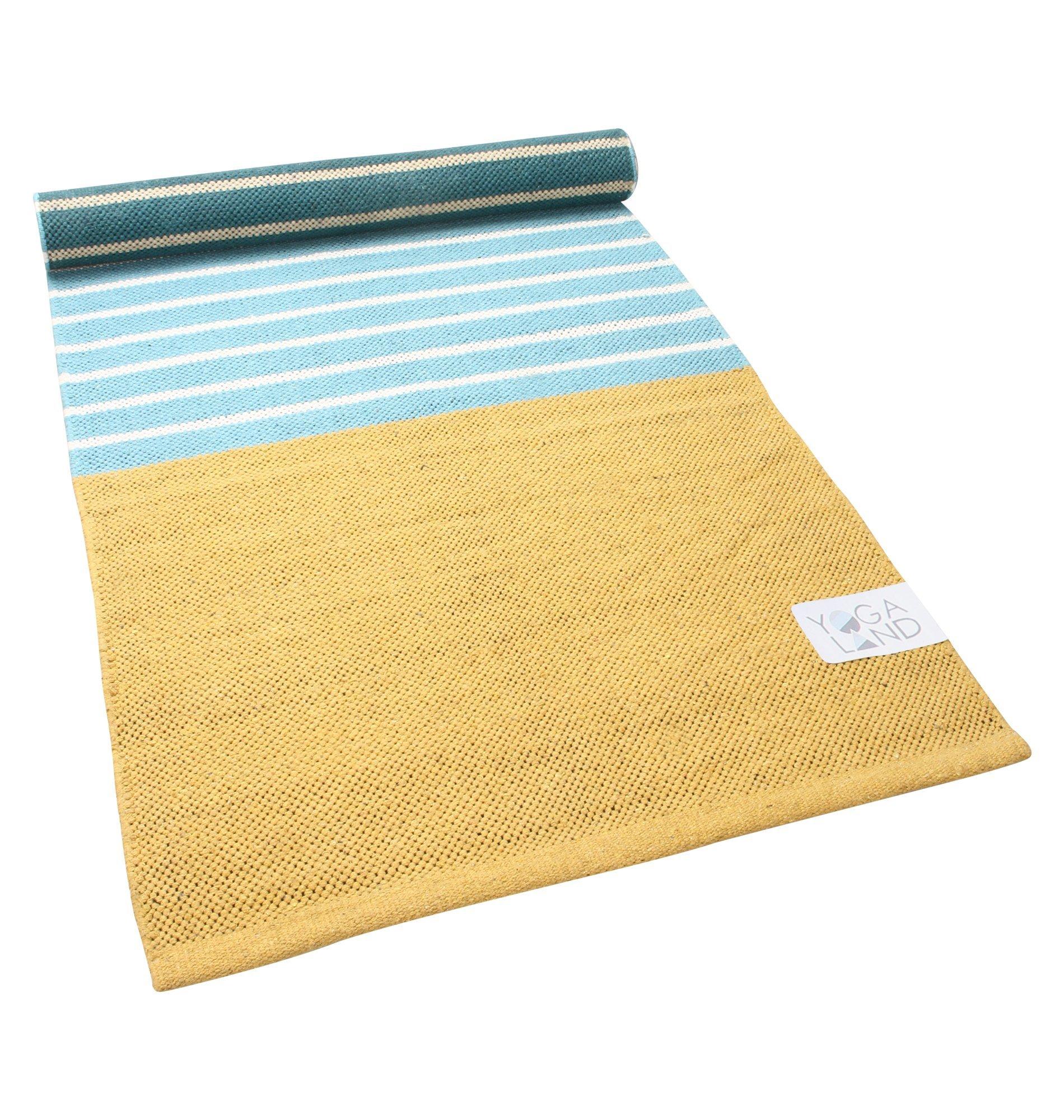 Yoga Land Organic Bamboo Yoga Mat – Natural Non-Toxic Eco-Friendly Cotton Bag to Carry – Anti-Slip – Anti-Bacterial Mat - Guru Bamboo (6 mm, 25''X 72'')