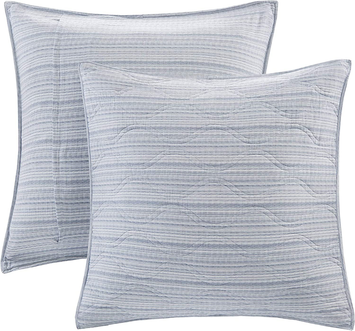 """Harbor House Modern Fashionable Design Euro Sham European Square Decorative Pillow Cover, Zipper Closure (Cushion NOT Included), 26""""x26"""", Quilted Blue"""