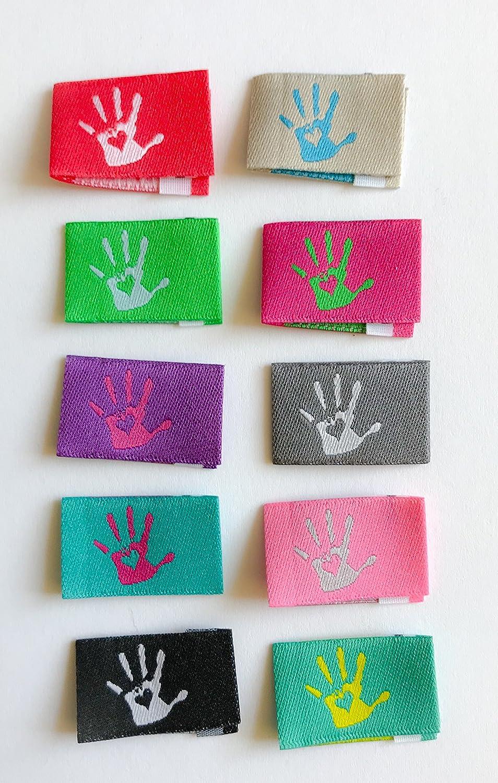 Sylter N/ähkultur 10 Handmade with Love Label M/ädchenpaket Webetiketten Textiletiketten Einn/ähetiketten Kleideretiketten