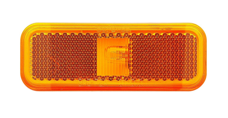 Optronics MC44AS Mark Light Rect 2Wire Amber