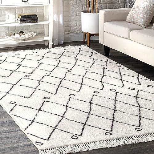nuLOOM Krystal Trellis Area Rug, 5 x 8 , Off-white