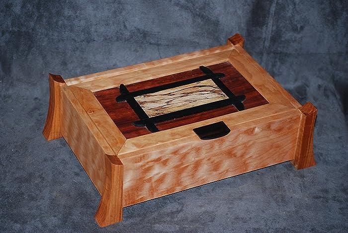 Amazoncom Quilted Maple Bubinga Jewelry Box Handmade