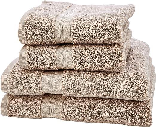 Pinzon - Juego de toallas de algodón Pima (2 toallas de baño + 2 ...
