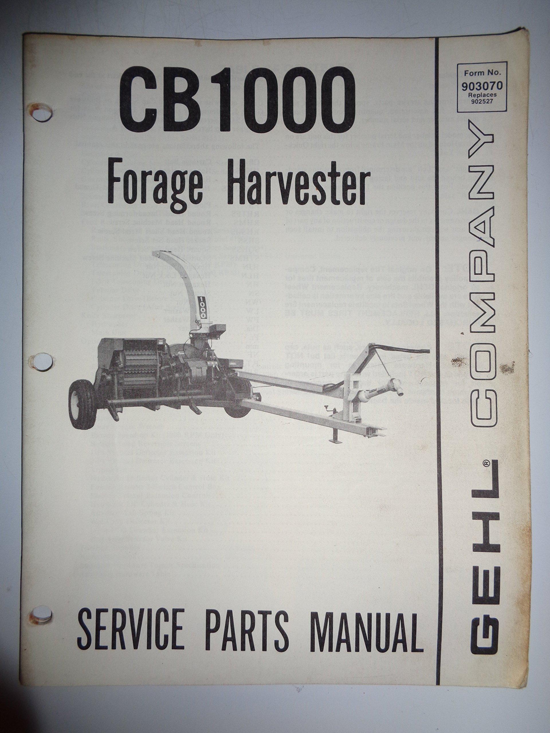 Gehl CB 1000 Forage Harvester Parts Catalog Book Manual 5/80: Gehl: Amazon