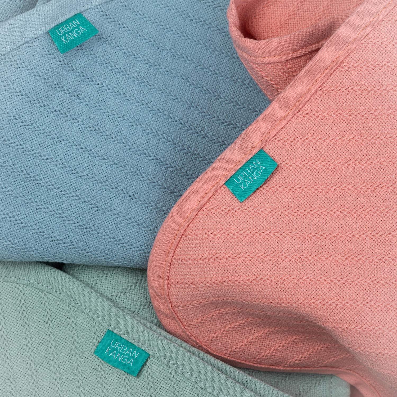 Blue Urban Kanga Cotton Baby Blanket Breathable Receiving Blanket for Newborn 100 /× 70 cm