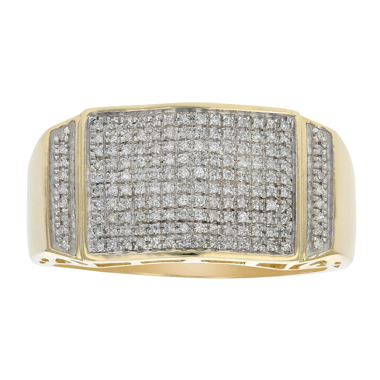 1 / 3 ctダイヤモンドメンズ婚約指輪10 Kイエローゴールドサイズ10 B076QL1V6J