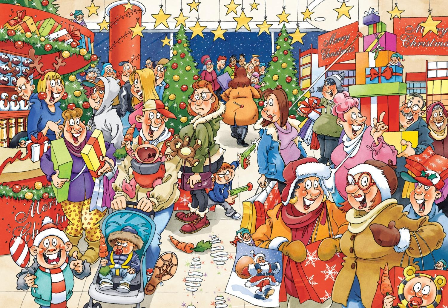 Wasgij Christmas Mystery Shopper Jigsaw Puzzle (2 x 1000 Pieces ...