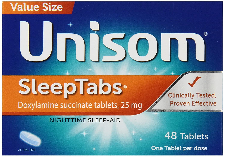 Unisom Sleep Tabs, Nighttime Sleep-Aid, 25 mg Doxylamine Succinate, 48  Tablets