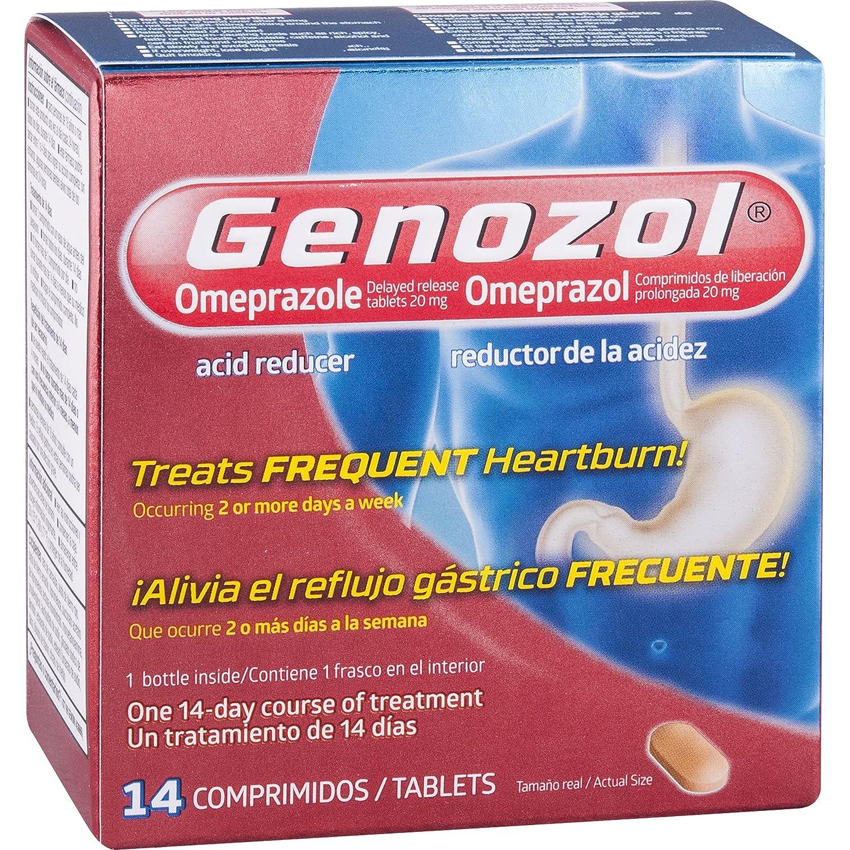 Amazon.com: Genozol Omeprazole Acid Reducer 20 mg Tablets, 14 Count: Health & Personal Care