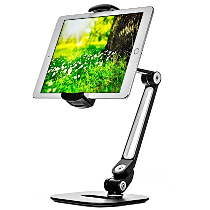 Bontend Ipad Stand - Adjustable Tablet Holder for 6 to 13 inch Tablets and Phones for the Table, Desk, Kitchen, Office