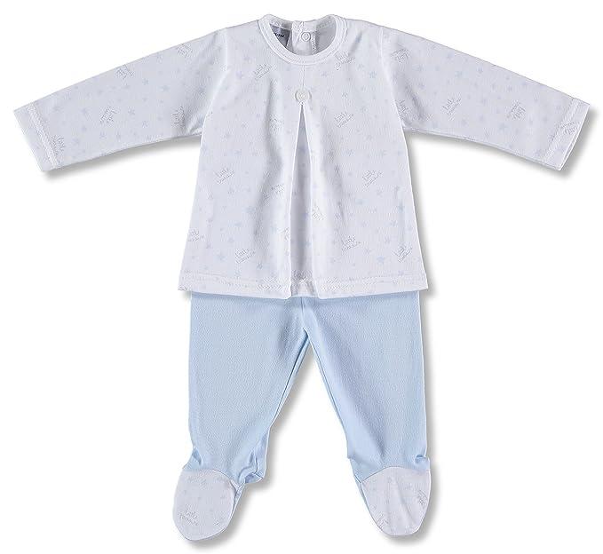Babidu 58234 Conjunto 2P Tabla Estrellas, Pijama Unisex bebé, Azul (Celeste 001)