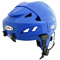 Prostar Deluxe Ice Hockey Helmets with Tool Less Size Adjustment System, Blue, Medium/Large