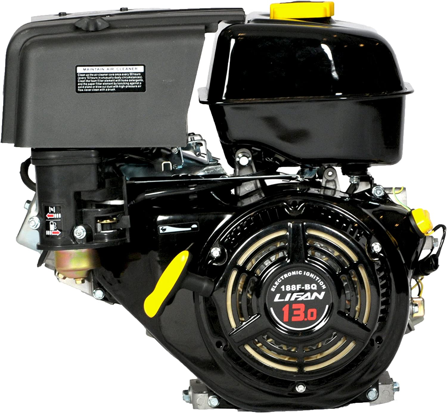 Amazon.com: Lifan LF188F-BDQ 13 HP 389cc 4-Stroke OHV Industrial Grade Gas  Engine with Electric Start and Universal Mounting Pattern: Garden & OutdoorAmazon.com