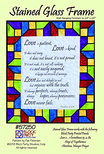 Amazoncom Stained Glass Frame Pattern Only Handmade