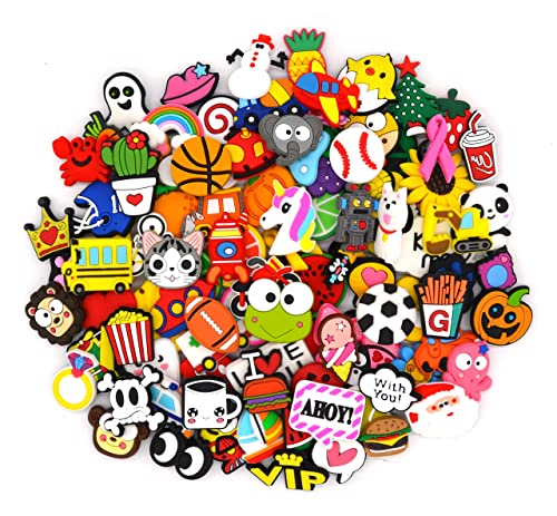 68d0ec913 Image Unavailable. 100 Piece PVC Shoe Charms - Fits Crocs   Jibbitz Band  Bracelets