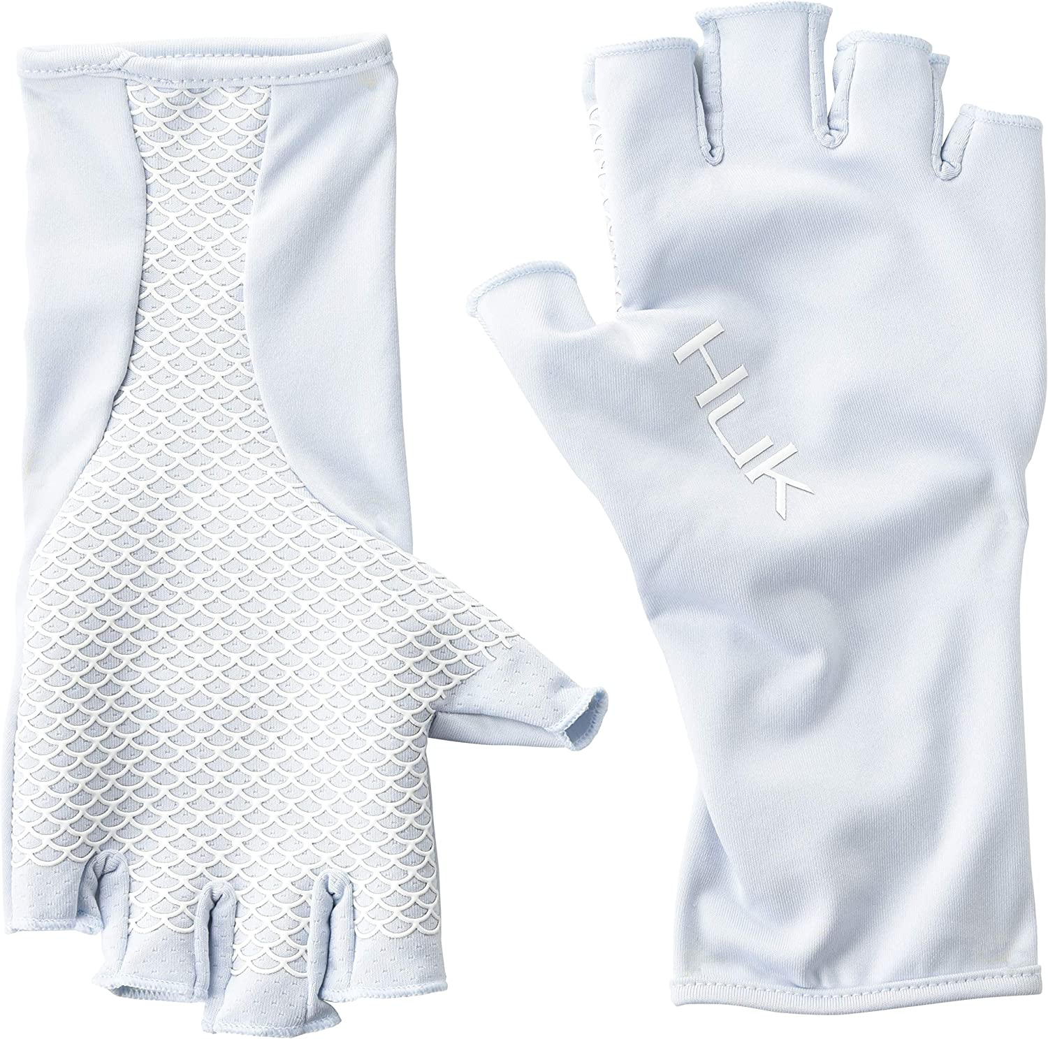 Quick-Drying Fingerless Fishing Gloves with UPF 30 Piece HUK Pursuit Sun Gloves Sun Protection Two